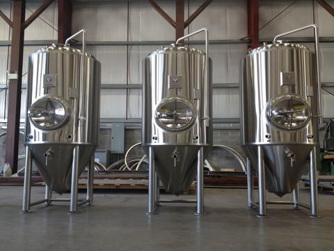 custom 200 bbl fermenters by Marks Design & Metalworks