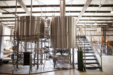 Marks Design and Metalworks - brew tanks in Oregon brewery GoodLife Brewing