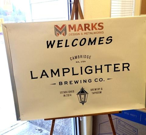 Marks Design & Metalworks on the East Coast - High Praise from Lamplighter Brewing Co.