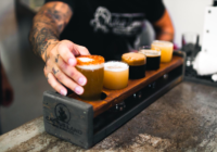 Taster tray at Cactus Land Brewing Co.'s showcasing popular flavors from their brewhouse.