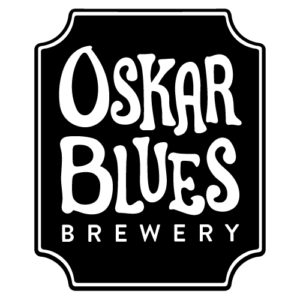 Oskar Blues Brewery's black and white logo.