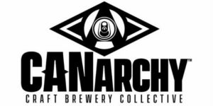 Canarchy Craft Brewery Collective's black and white logo.